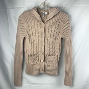 Chunky fall knit button up cardigan sweater small